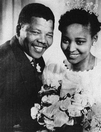 Winnie and Nelson Mandela Wedding day