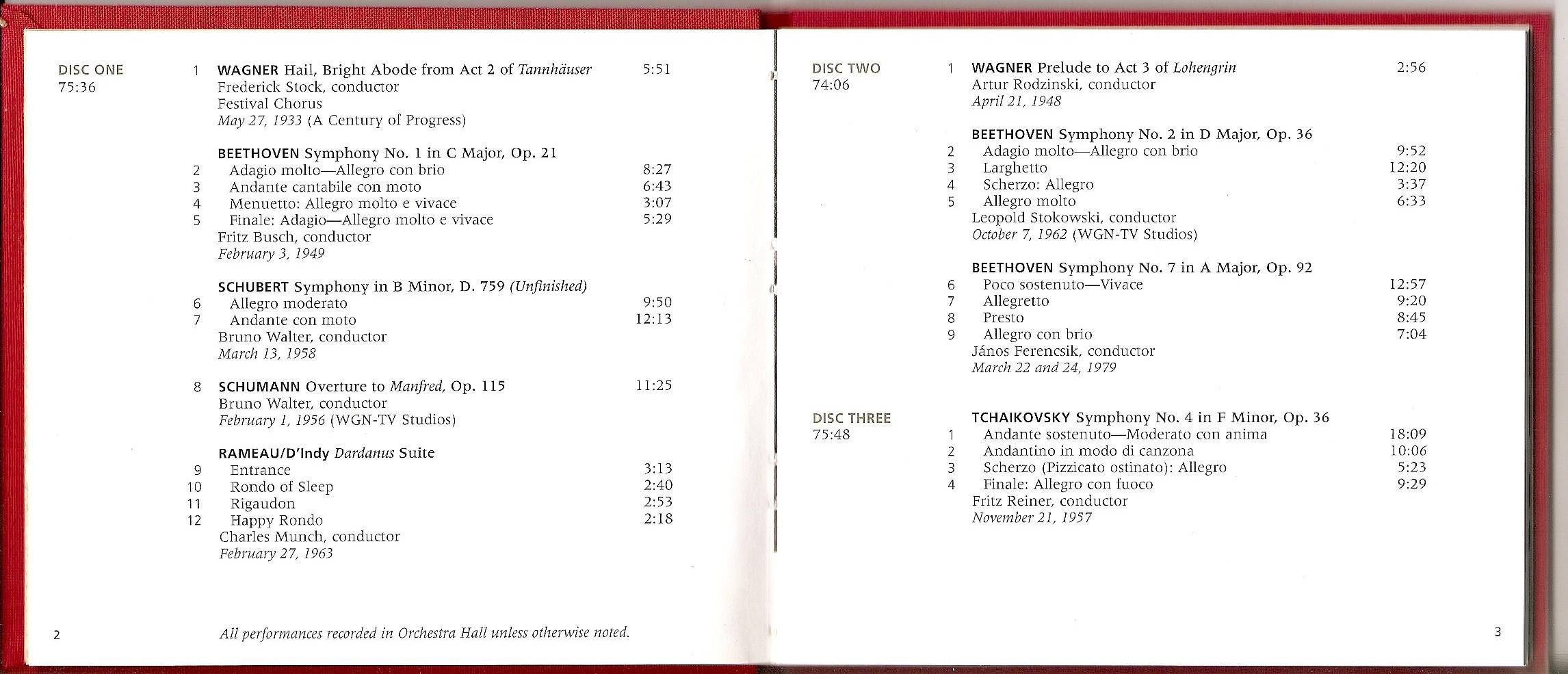 Chicago Symphony Orchestra - From The Archives: The CSO in the 20th Century: Collector's Choice, 10-CD set (2000) (page 2 of 5)