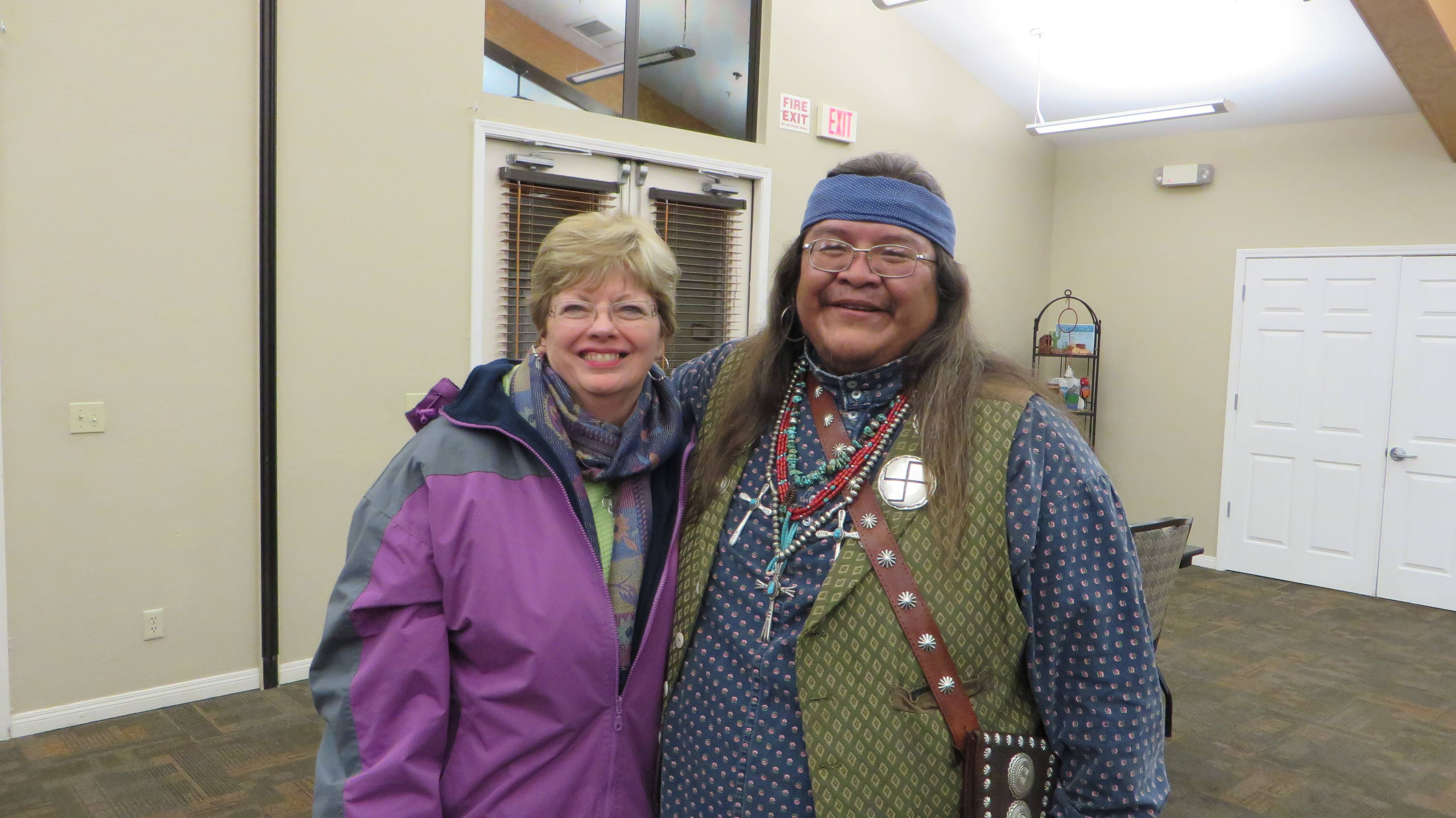 Lynda with Navajo guide, Brian Banally