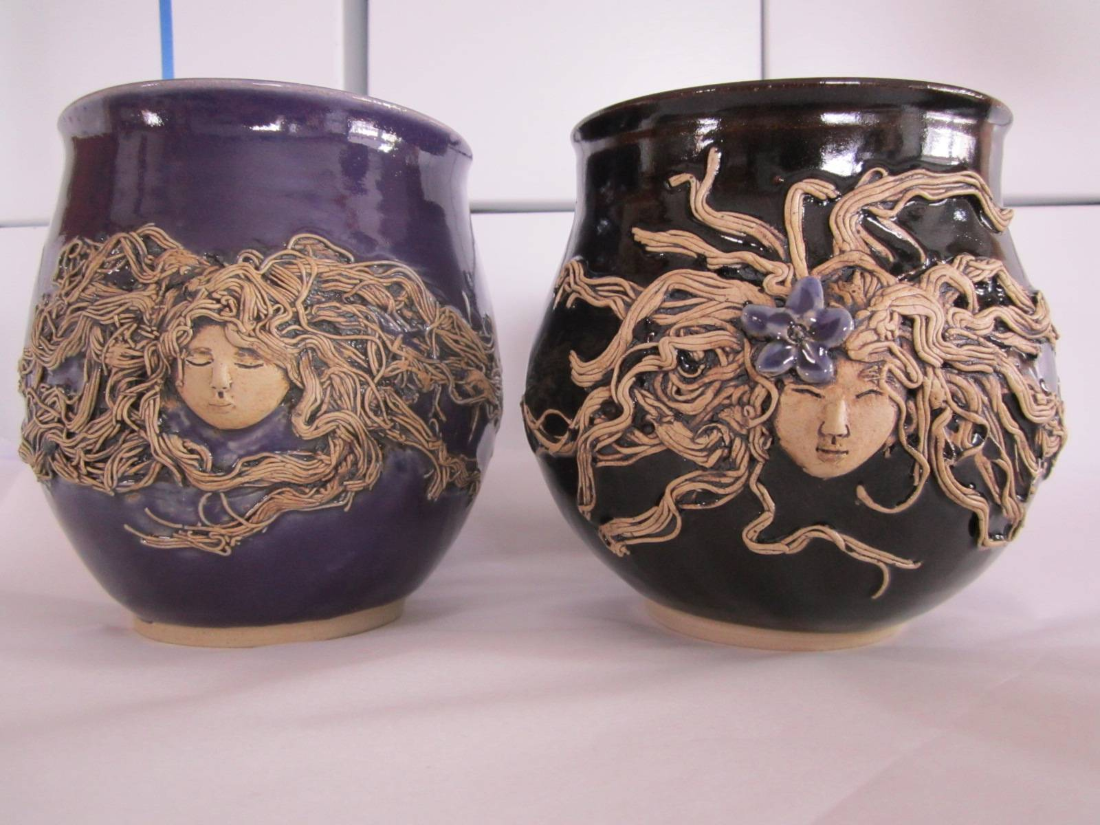 Women in water mugs by Cheryl
