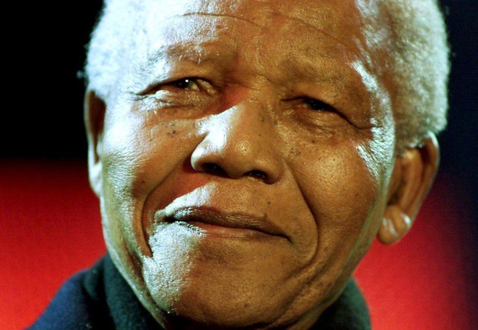 Mandela smilng