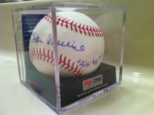 """Stan Musial """"3X MVP"""", MLB Selig Baseball, PSA/DNA #P13848, GEM 9"""