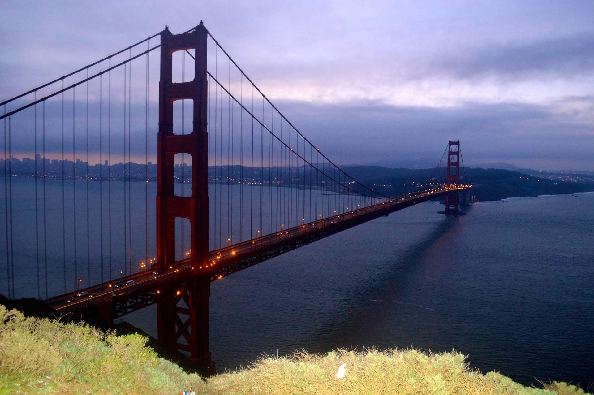 Purple Sky over the Bay Bridge