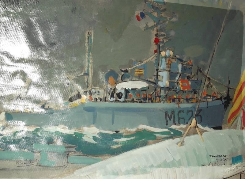 transfert mer d'Irlande (M 623) 55 x 38 cm