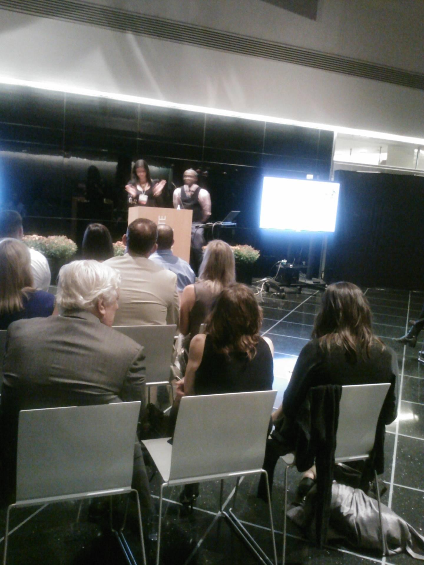 Team Exec at Small Biz Award Ceremony