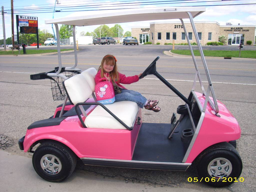 1999 Hot Pink Club Car -Electric