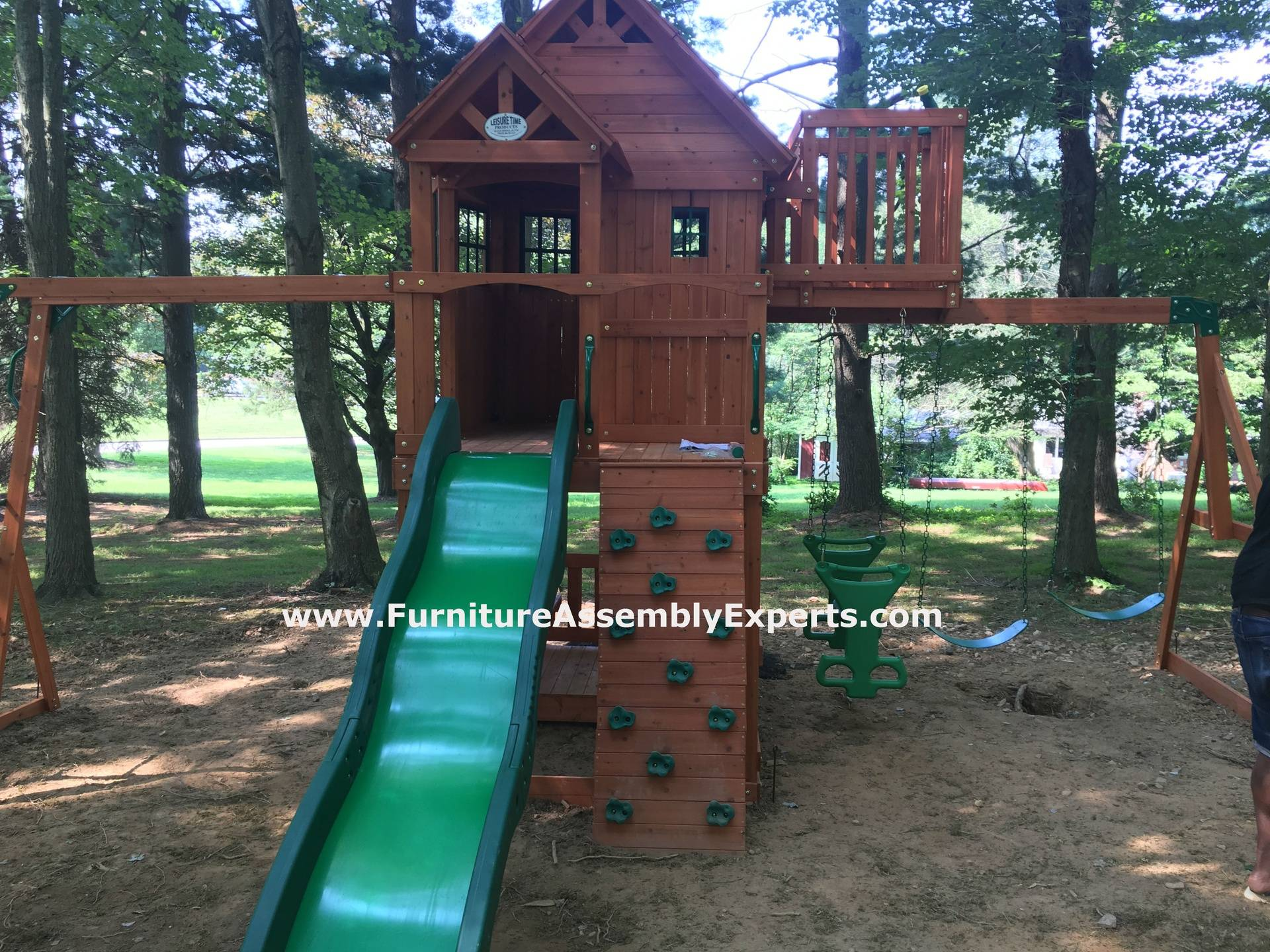 skyfort swing set installation in DC MD VA