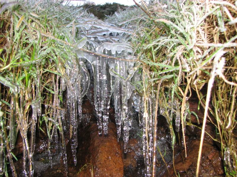 icicles on frozen burn