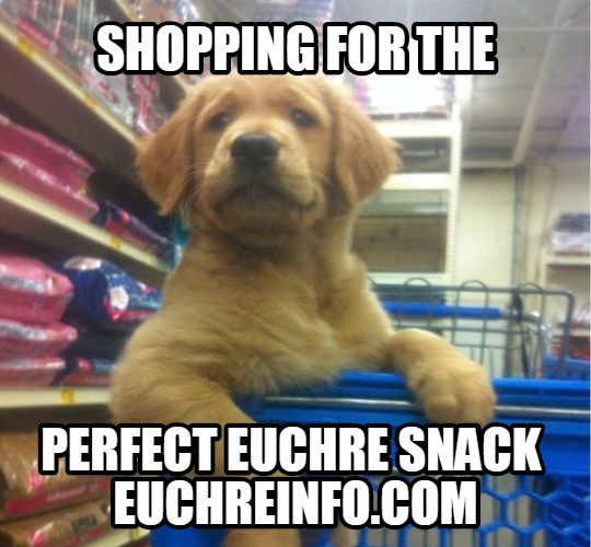 Shopping for the perfect Euchre snack.