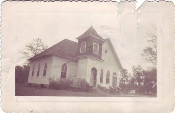 Mt Olive Christian Church Before paved streets and brick walls