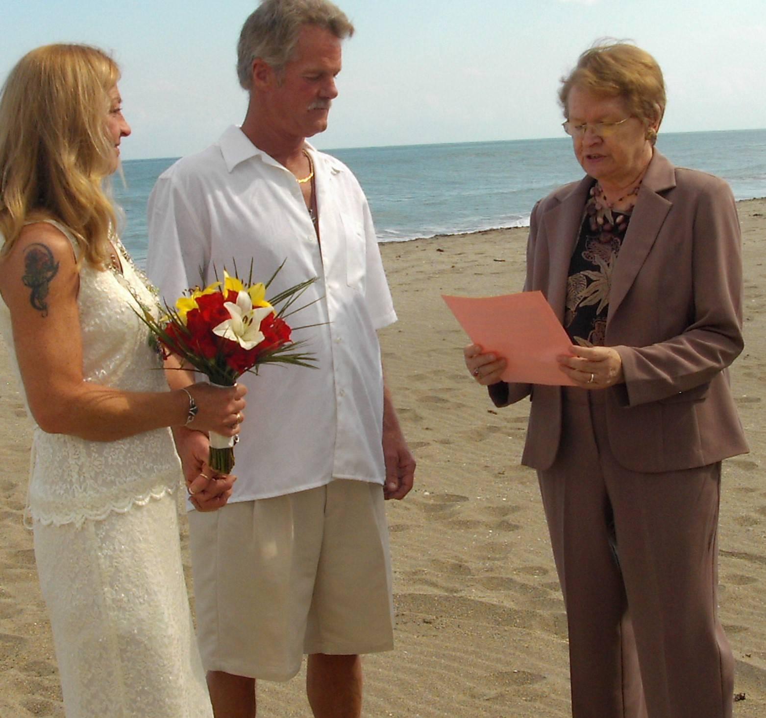 First Beach Wedding