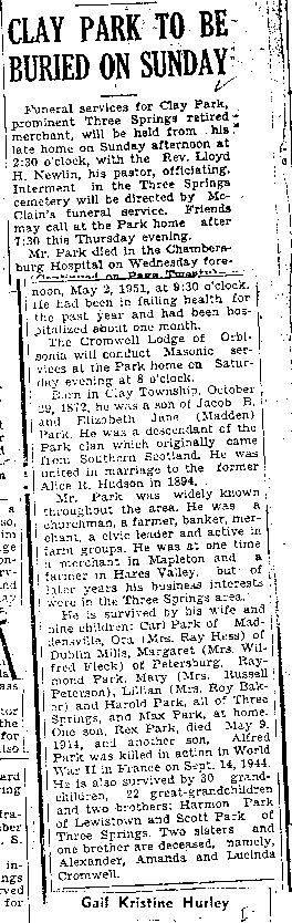 Park, Clay 1951