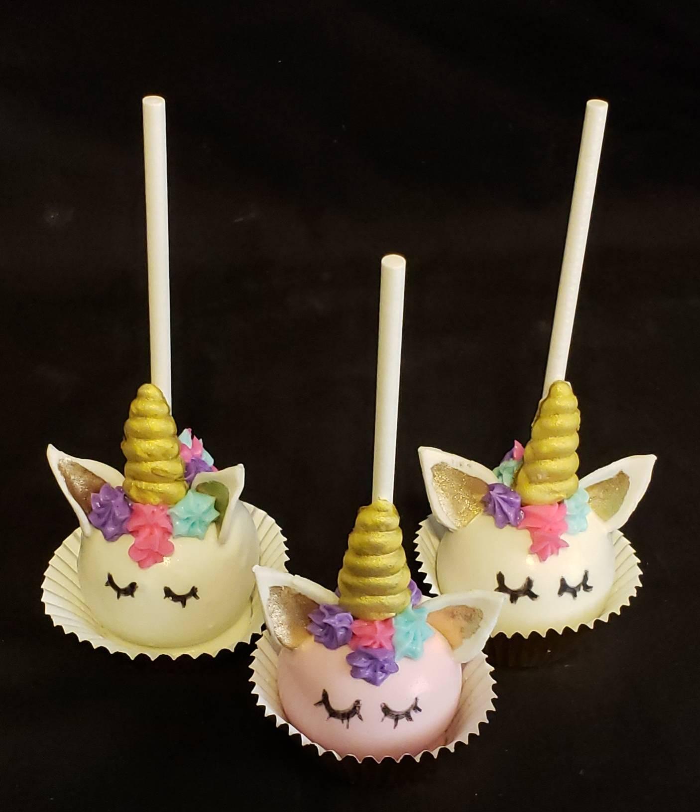 White Unicorn Cake Pops