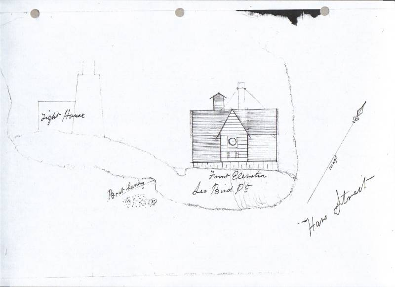 Plans of the Discovery Island Lighthouse. 1889