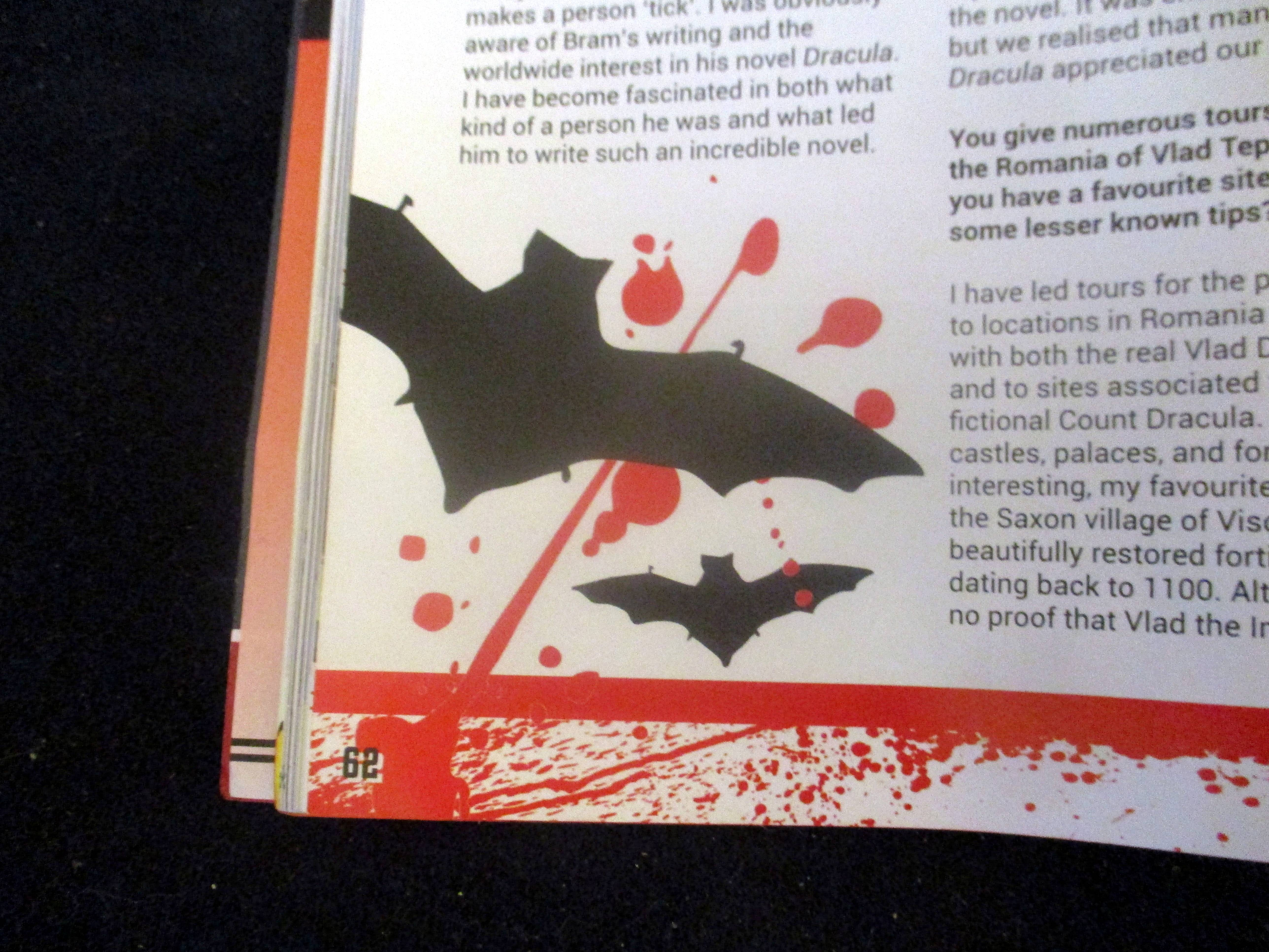 Bat Graphic on First Page of The Blood is the Life in Starburst Magazine #475: The Mandalorian Collectors¿ Edition at The Wombatorium 2.0: A Capital Idea