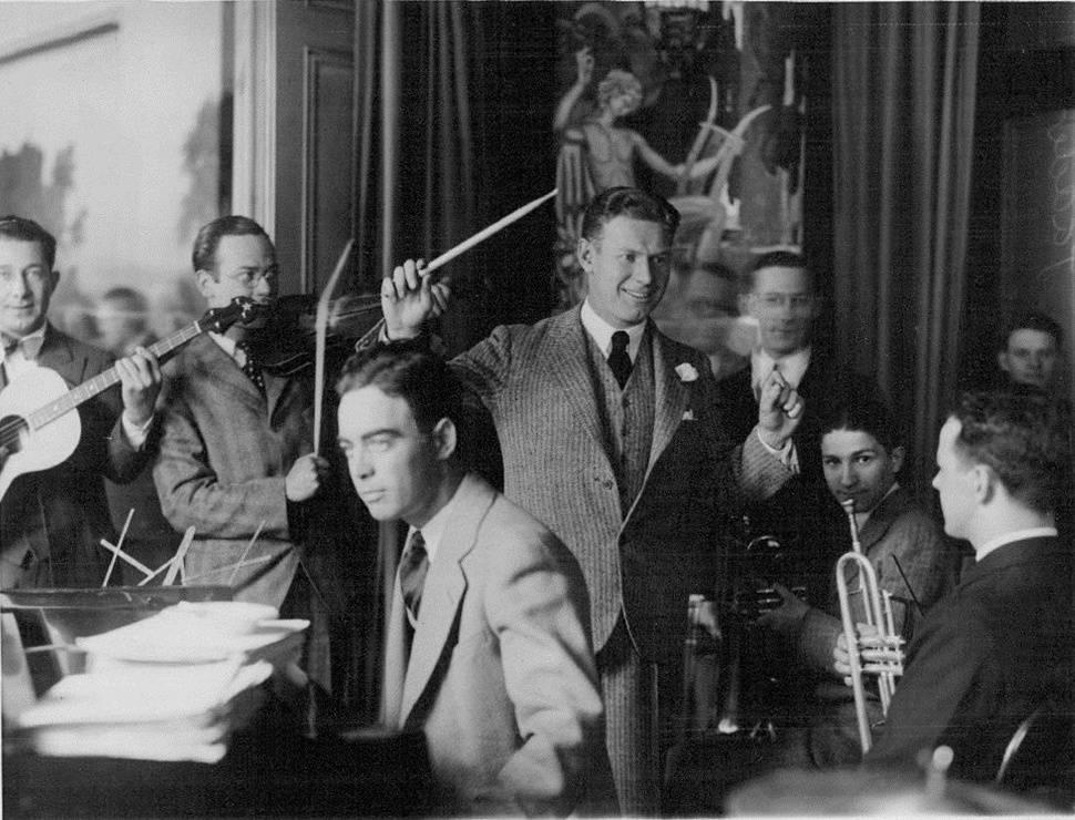 Charley leads the Jan Savitt orchestra