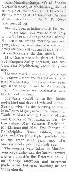 Garner, Marietta Sarley 1912