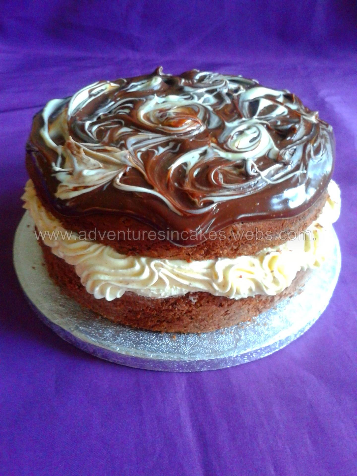 Chocolate with white chocolate buttercream filling