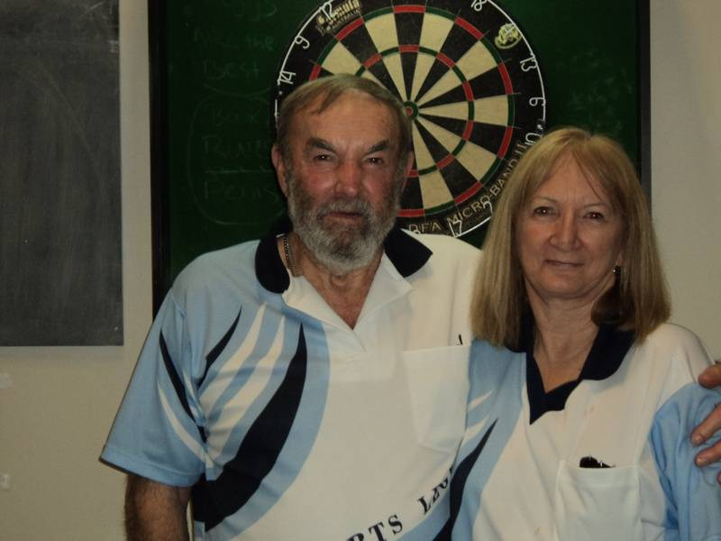 A Grade Mixed Doubles Winners - Connie Spinks & Bill Muncaster