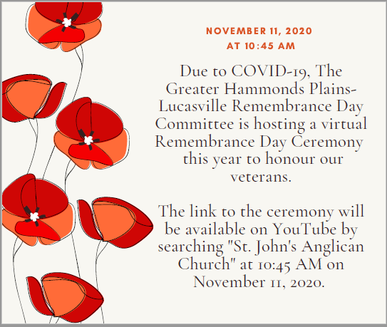 2020 Virtual Remembrance Day Ceremony
