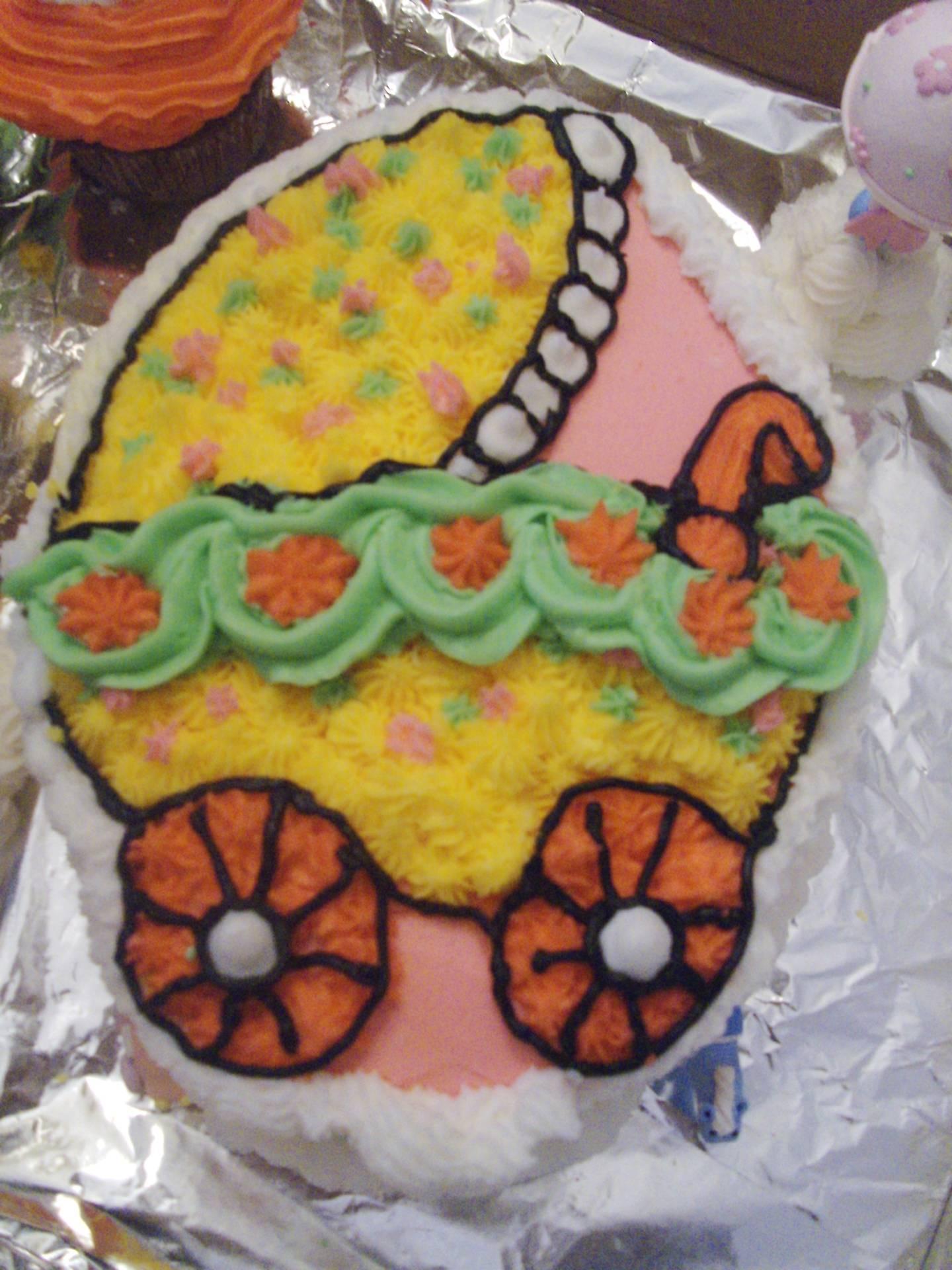 A Baby Stroller Cake