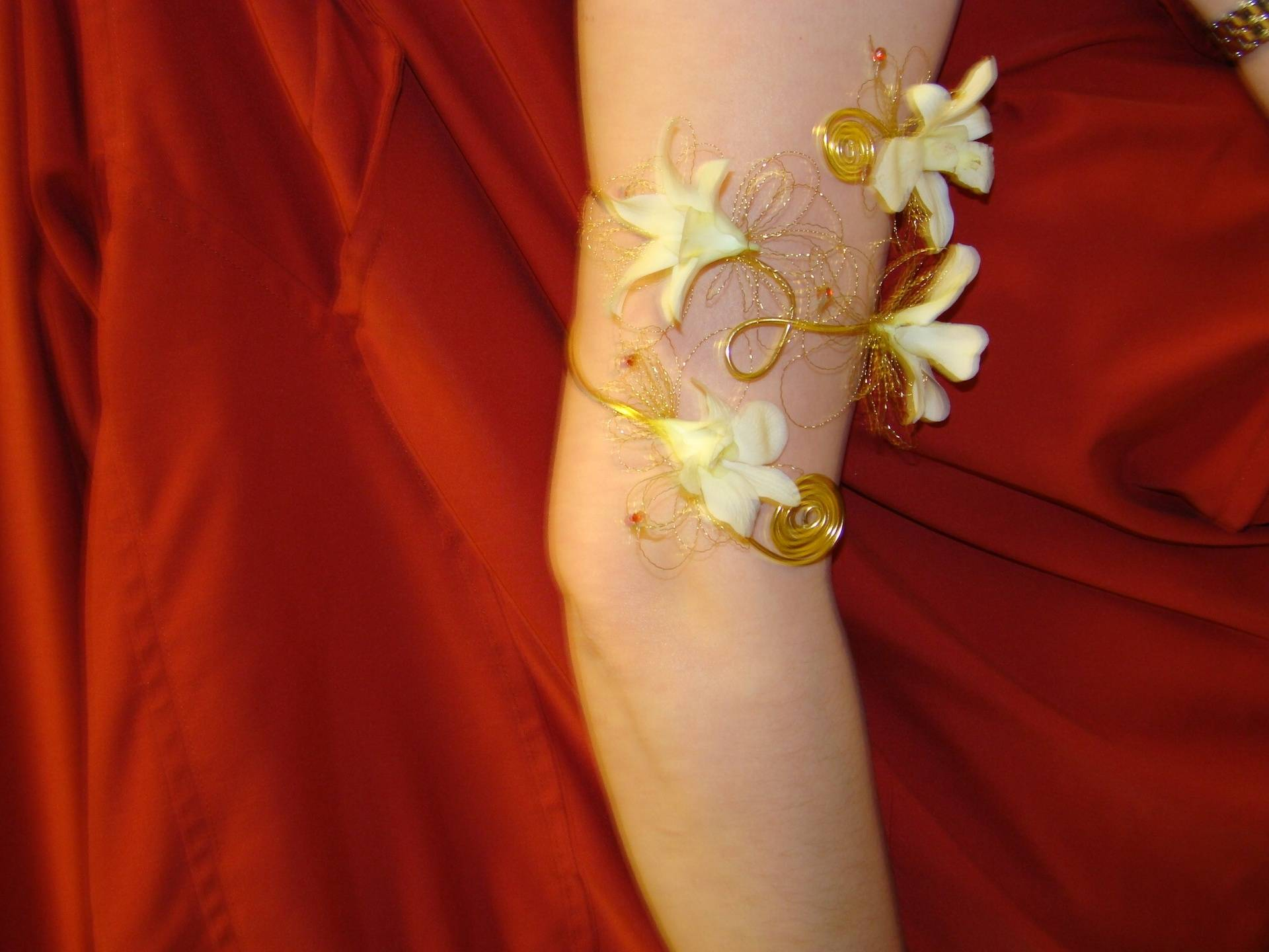 Orchid Arm Corsage