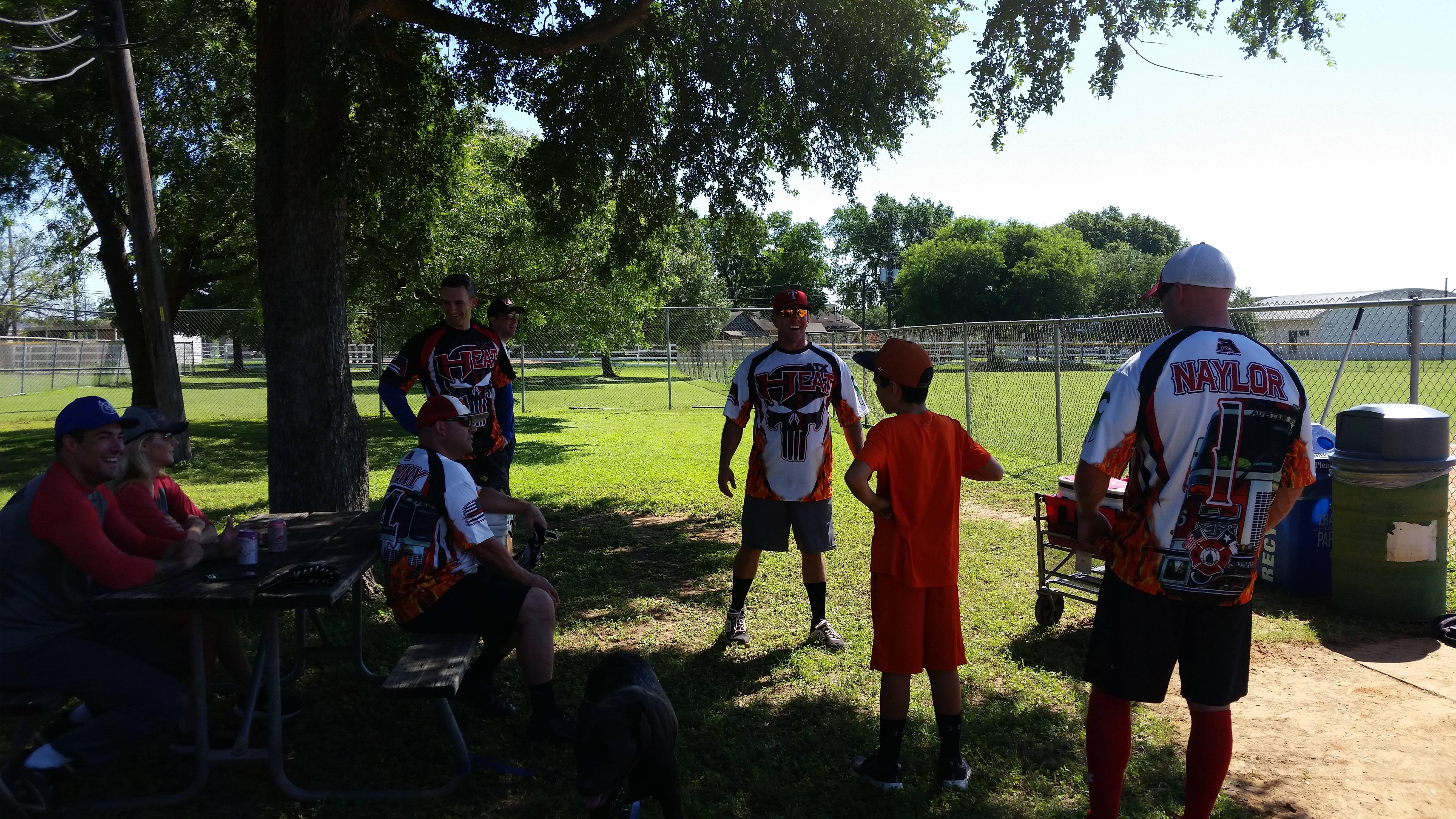 Team Austin Heat in between games