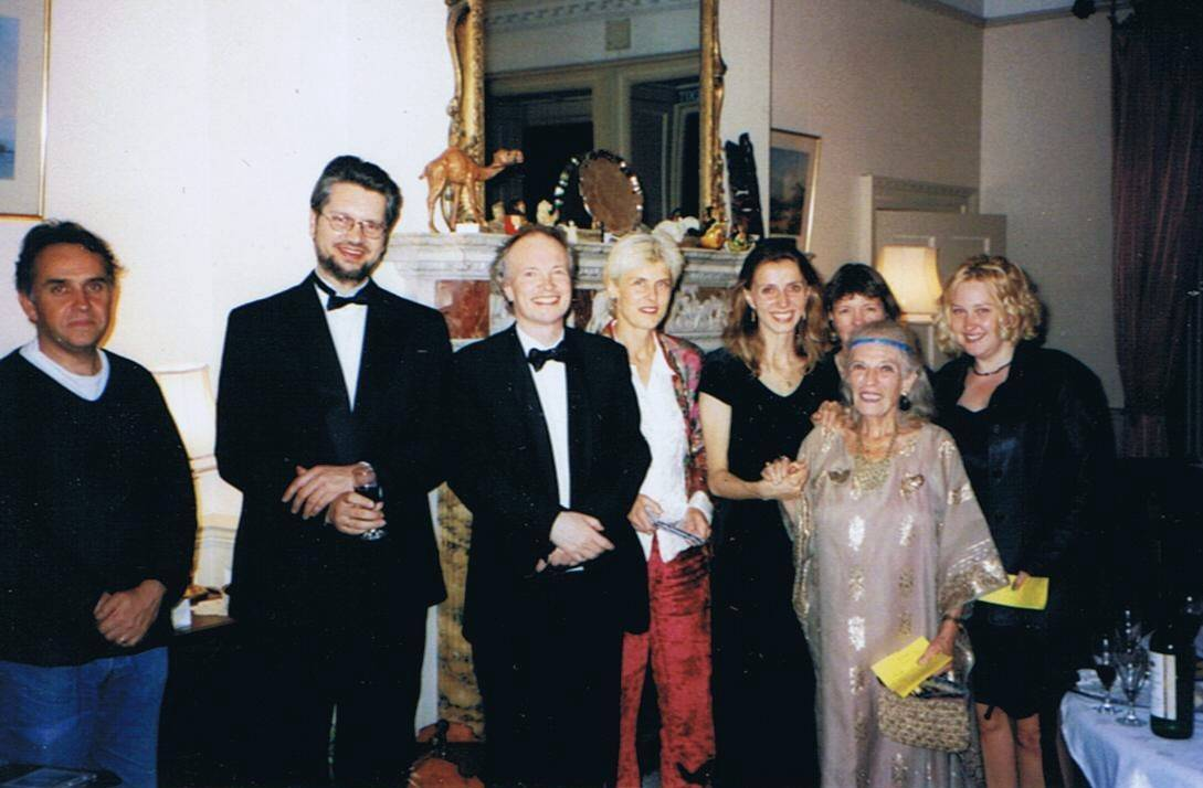 With Yalta Menuhin, Orwell Park School, Suffolk, UK, 1998