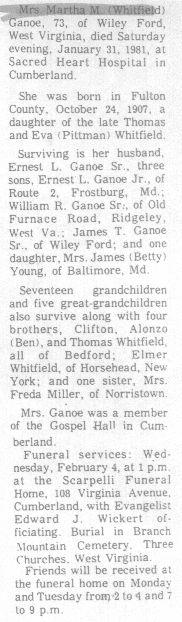 Ganoe, Martha Whitfield 1981