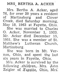 Acker, Bertha A. 1963