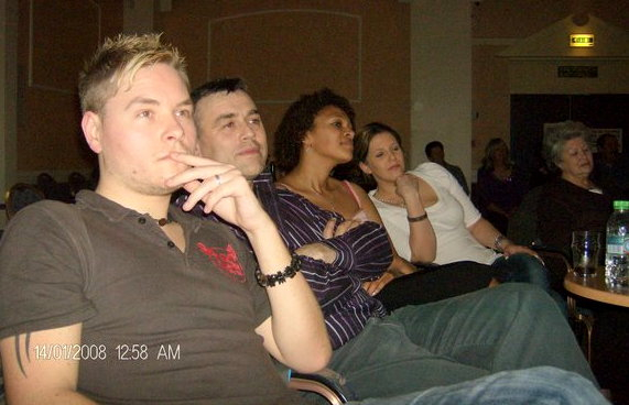 All concentrating on someone!