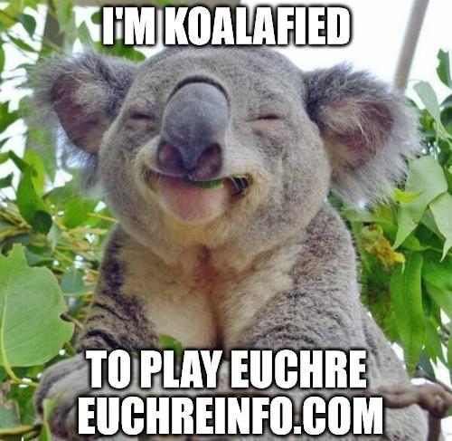 I'm koalafied to play Euchre.