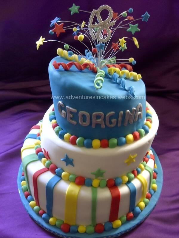 18th Topsy Turvy Cake