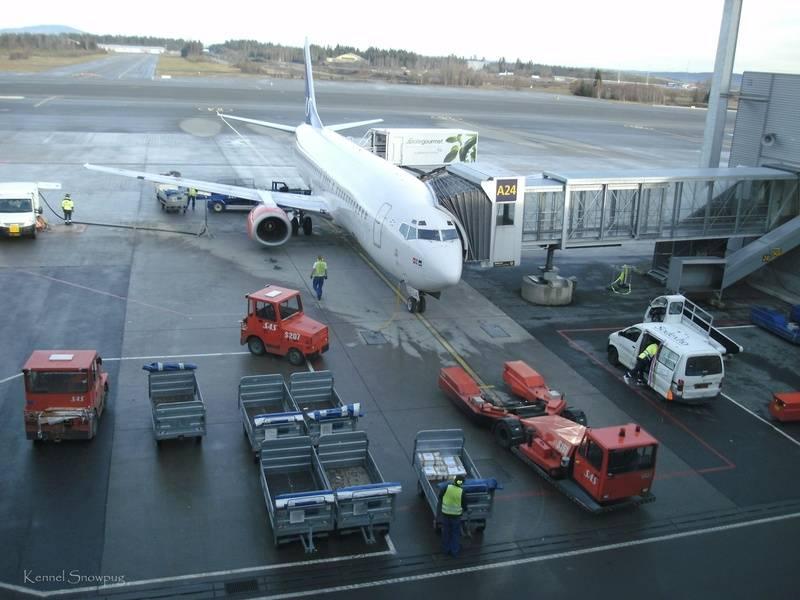 Flybytte på Gardermoen