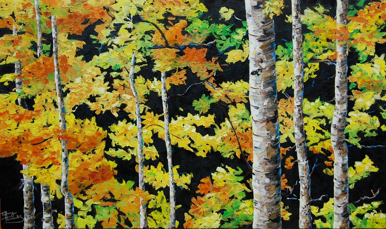 Sweet cacophony.  24x40 inches