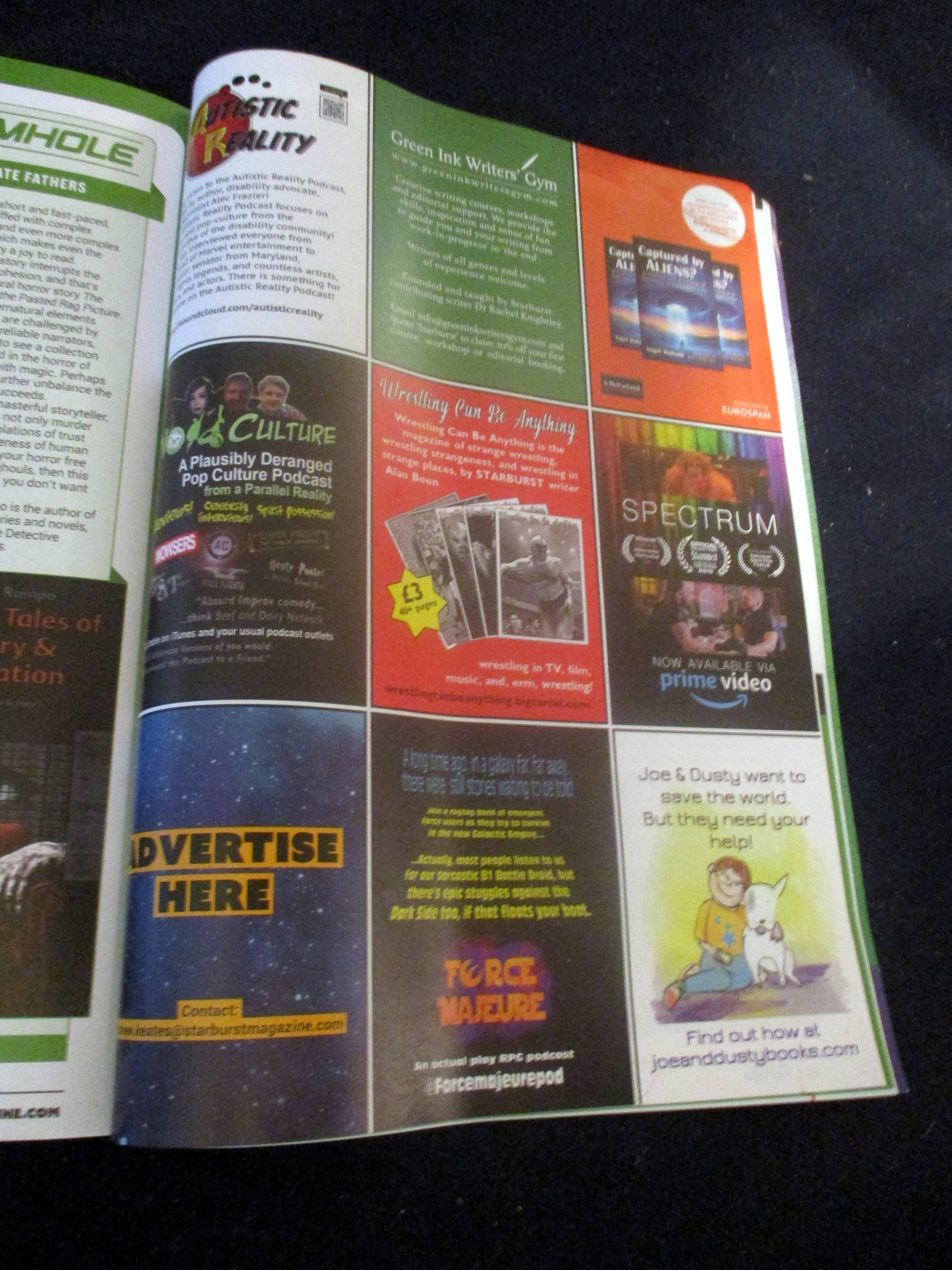 Page with Advertisement for Autistic Reality Podcast in Starburst Magazine #475: The Mandalorian Collectors¿ Edition at The Wombatorium 2.0: A Capital Idea
