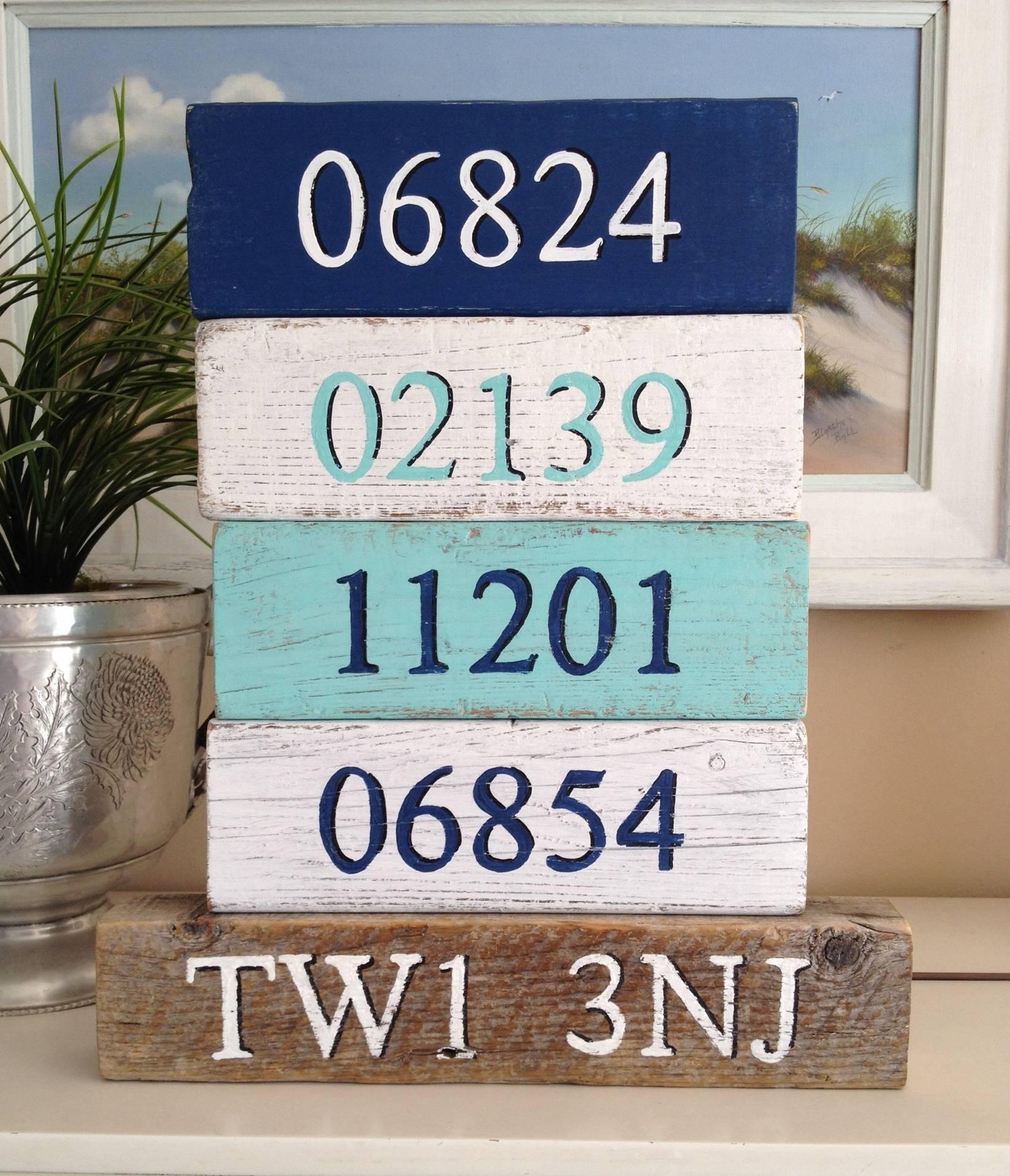 Set of zip code blocks