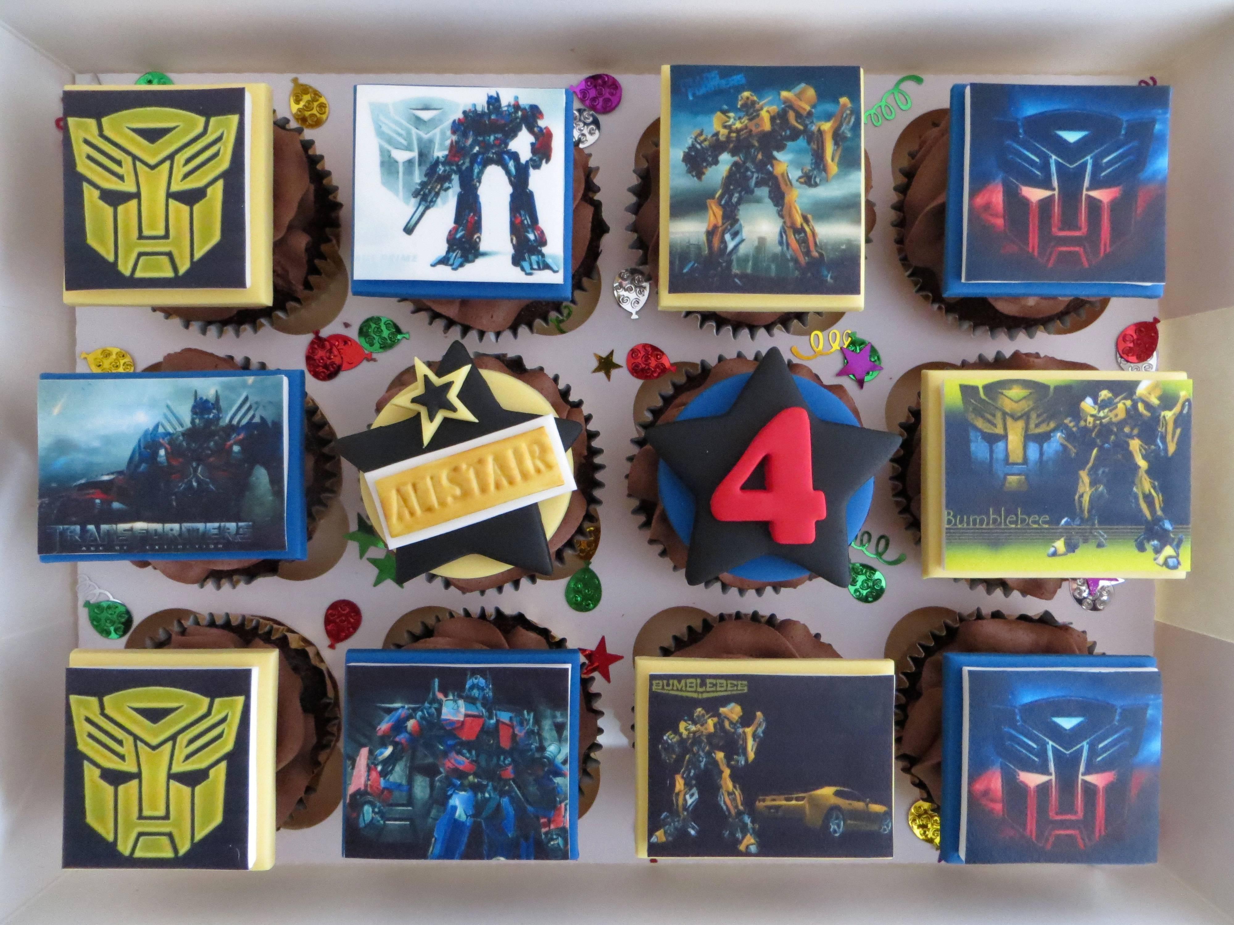 Transformers Birthday Cupcakes