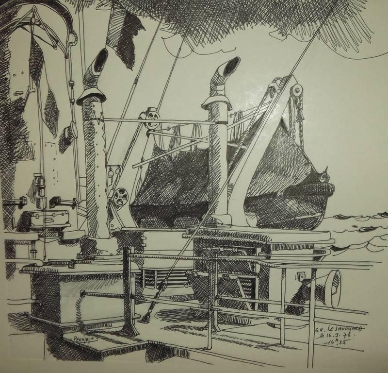 E.R  Le SAVOYARD 33 x 28 cm