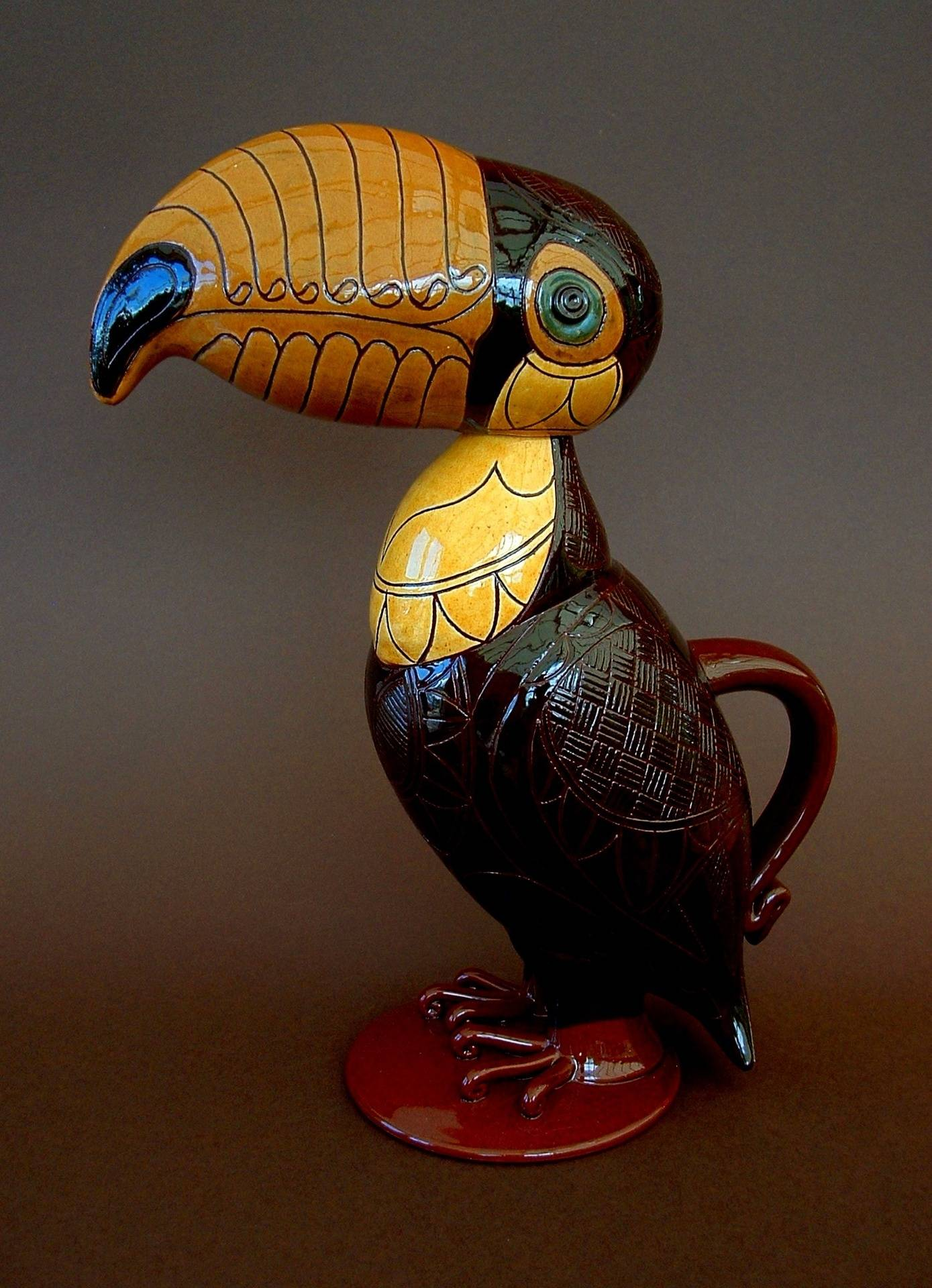 """Upright Toucan 14"""" tall"""