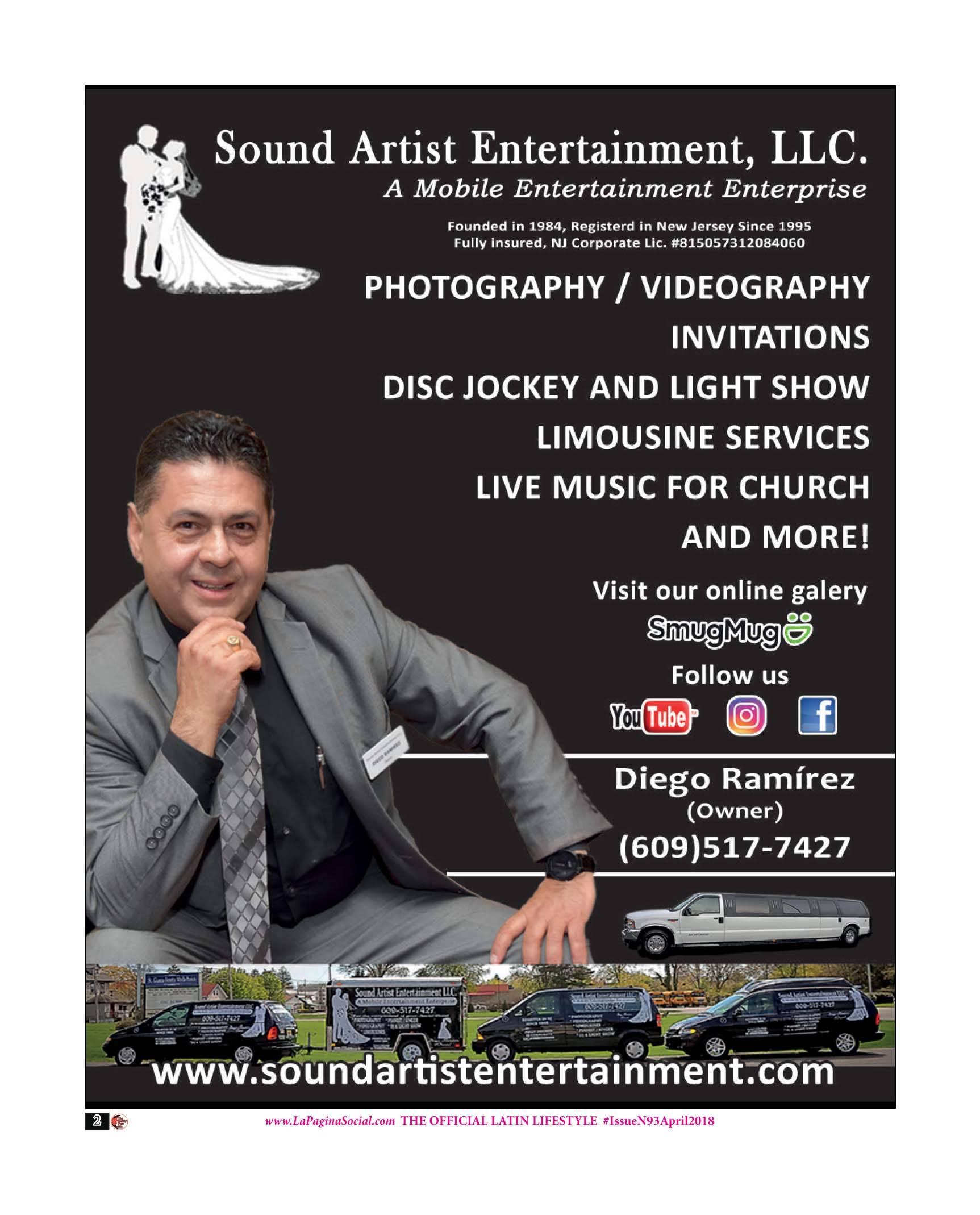 Diego Ramirez, Sound Artist Entertainment