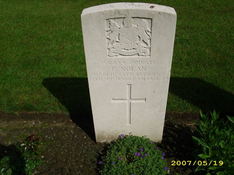 Pte. 350084 PETER NOLAN. 1st 8th Battalion - Formerly 1st 9th Battalion.