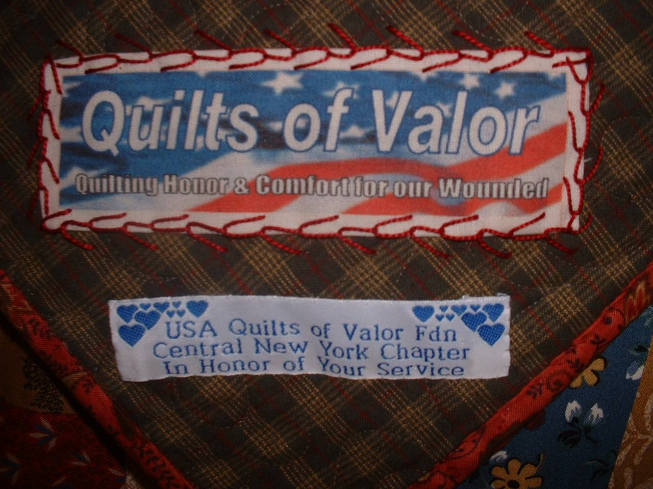Quilt of Valor Label