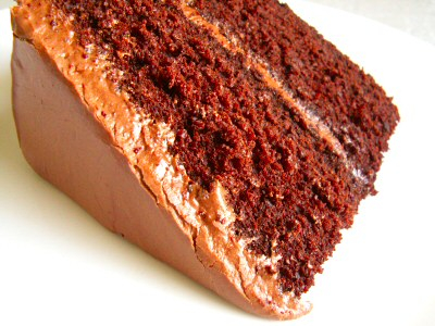 chocolate cake with chocolate frosting's