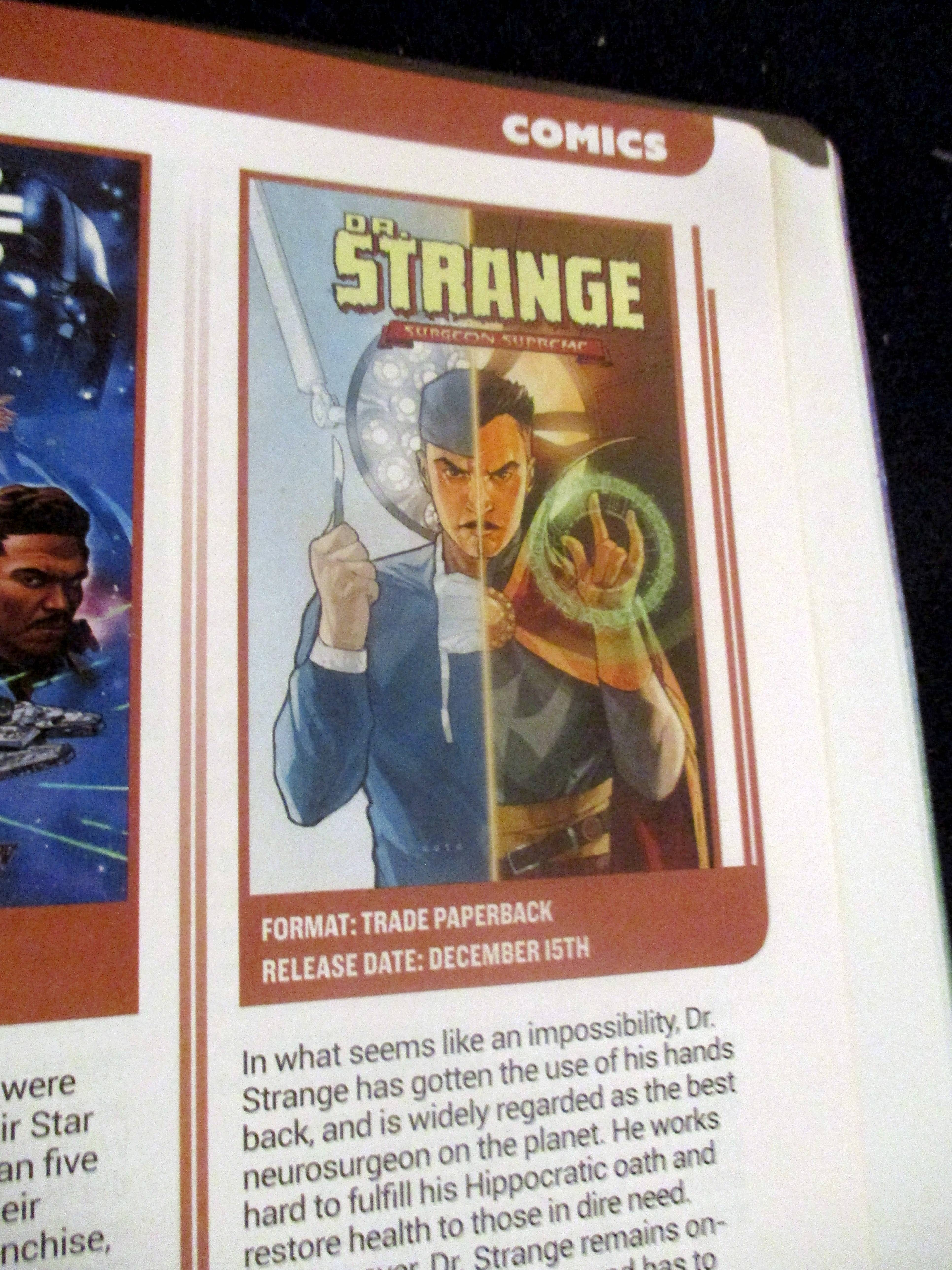 Image of Front Cover of Trade Paperback of Doctor Strange: Surgeon Supreme in Review of Doctor Strange: Surgeon Supreme in Starburst Magazine #475: The Mandalorian Collectors¿ Edition at The Wombatorium 2.0: A Capital Idea