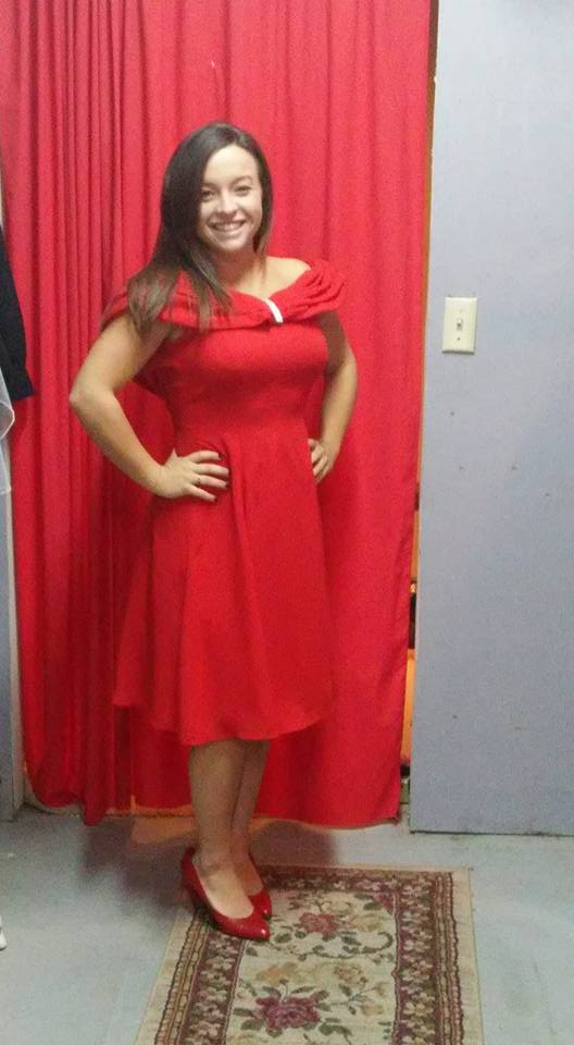 50's Red Dress