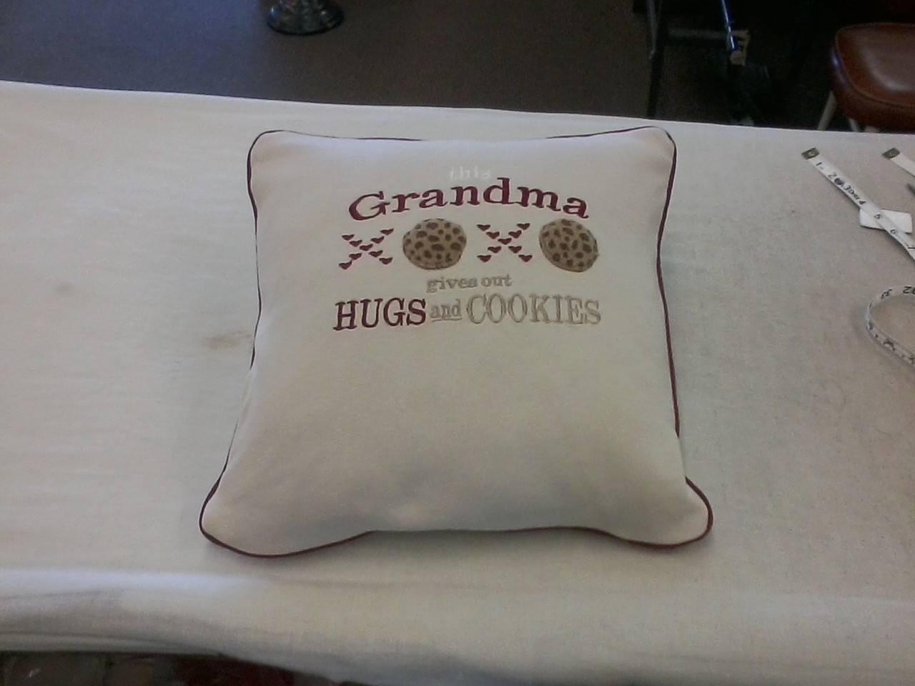 Throw pillow made from scratch