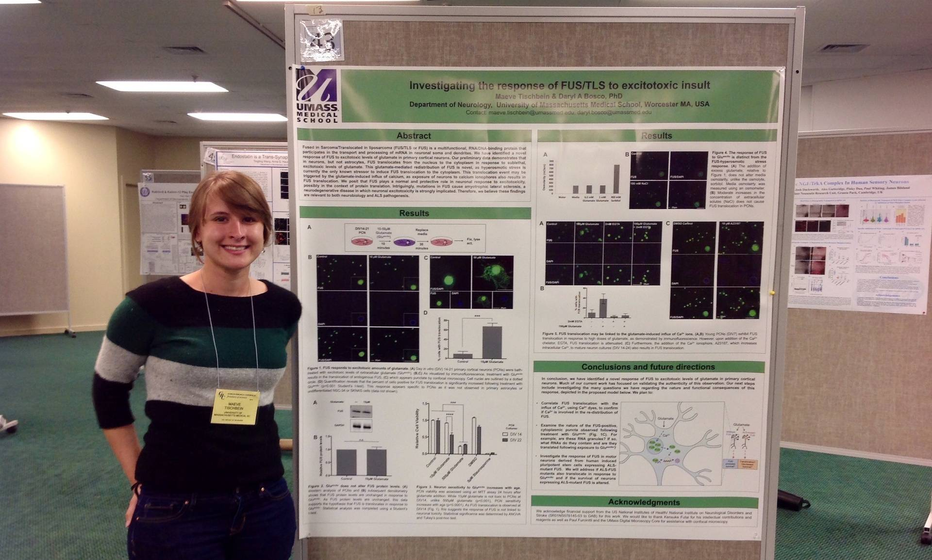 Maeve's 1st poster! (Gordon Research Conference: Cell Biology of the Neuron 2014)