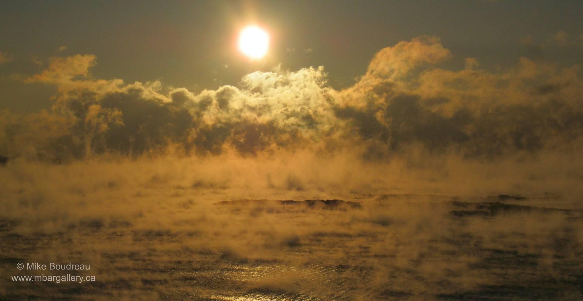 Winter Morning over Bay of Fundy, Saint John NB