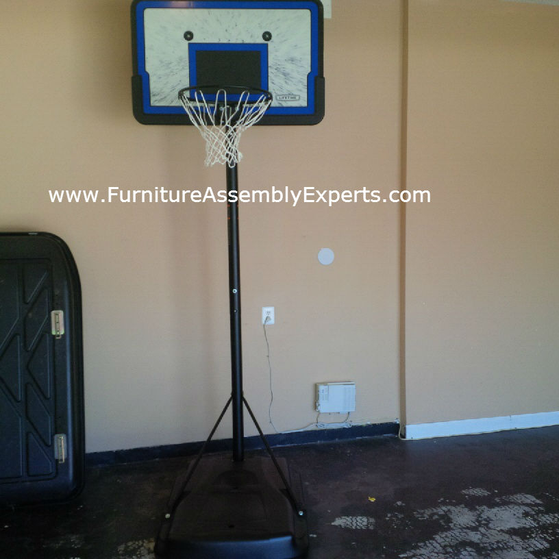 portable basketball hoop assembly service in clinton MD